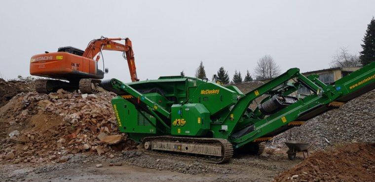 Informace o záměru provozovat naulici Jiráskova drtící linku stavebního odpadu